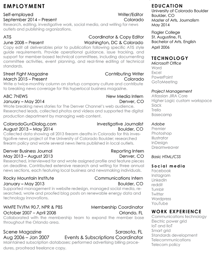 April Nowicki resume
